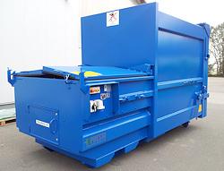 Containerpresse blau