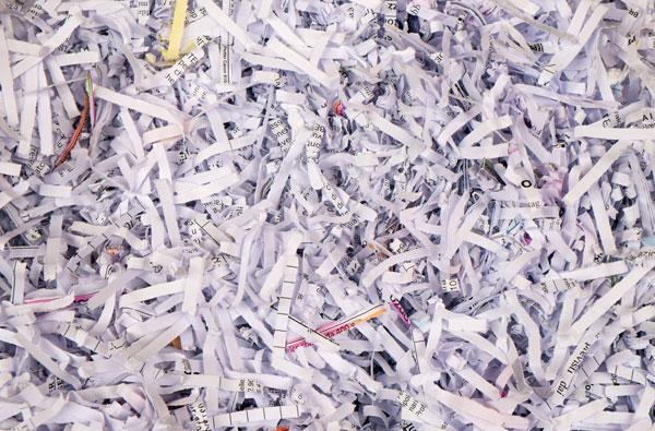 Shredder-Papier